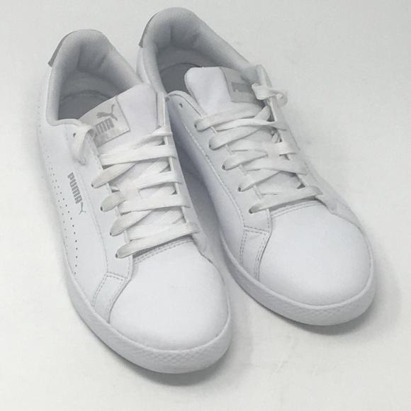 629a8205933e Puma Ladies  Leather Shoe Smash Perf Met White. M 5b169ee9534ef92456bbb196
